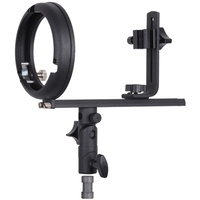 PES Flash Speedlight Bracket T (Bowens S )Mount for Snoot softbox barndoor