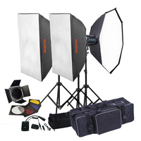 GODOX QS-400II X3 STUDIO FLASH LIGHTING KIT