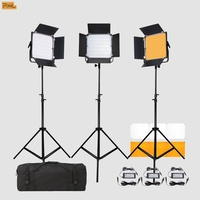 Pixel Video Light 3 x K80S LED Light Kit (Power Adaptor Included)