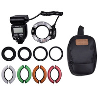 YONGNUO YN14EX II MACRO FLASH LIGHT KIT WITH 4 COLOR FILTERS (5600K , LARGE LCD DISPLAY)