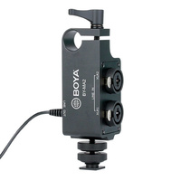 BOYA BY-MA2 DUAL CHANNEL XLR TO 3.5MM AUDIO MIXER ADAPTOR FOR DSLR & CAMCORDER