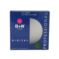 B+W 62MM CLEAR UV HAZE FILTER