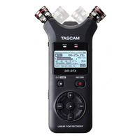 TASCAM DR-07X STEREO HANDHELD DIGITAL AUDIO RECORDER AND USB AUDIO INTERFACE (ADJUSTABLE , 2 TRACKS , 2 CHANNEL)