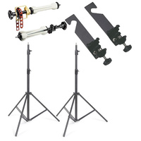 PES Photography Backdrop Support Rolling Kit for Paper/Vinyl