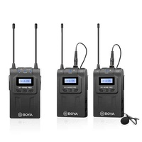 BOYA BY-WM8 PRO-K2 UHF DUAL-CHANNEL WIRELESS MICROPHONE SYSTEM KIT (LAVALIER , 100M)