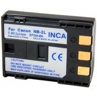 Inca 740806 Battery Rep Canon NB-2L Li-Ion 7.4v approx 750mAh