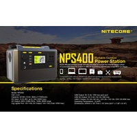 Nitecore Portable Power Station NPS400 Inverter