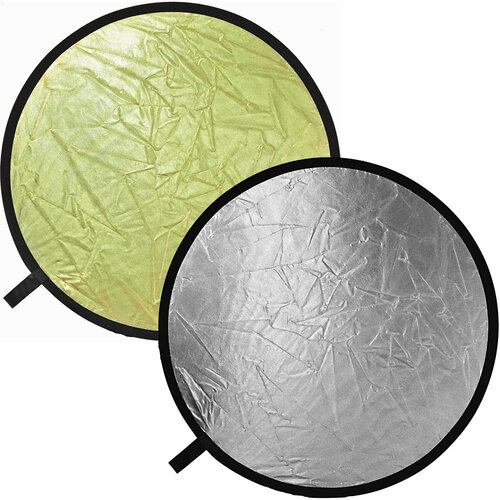 PES 2 SILVER / GOLD  COLLAPSIBLE REFLECTOR  DISC 100 X 150 CM
